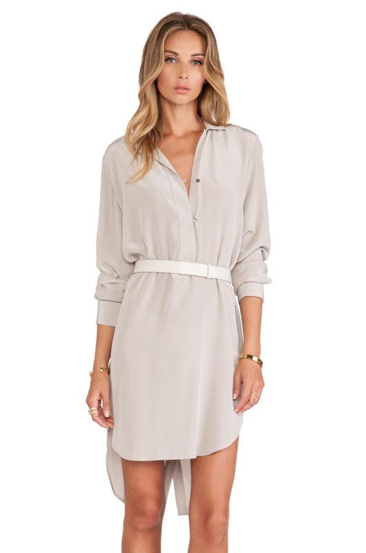 шелковые платья-рубашки