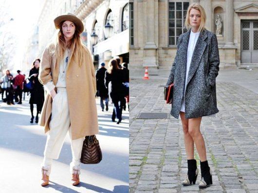 С чем носить пальто оверсайз (ФОТО)
