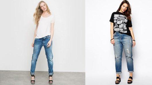 С какой обувью носить джинсы-бойфренды летом