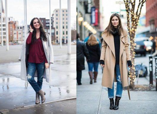 С какой обувью носить джинсы-бойфренды зимой