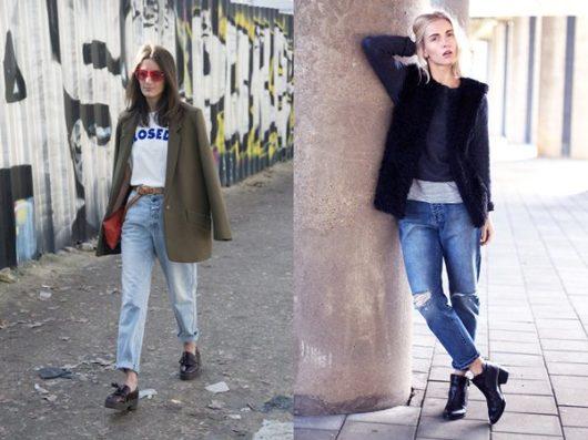 С какой обувью носить джинсы-бойфренды осенью