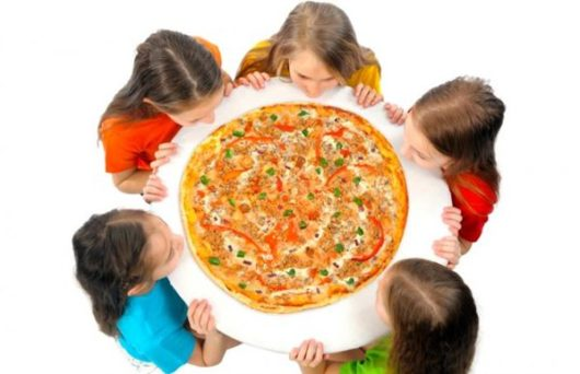 детский день рождения в пиццерии