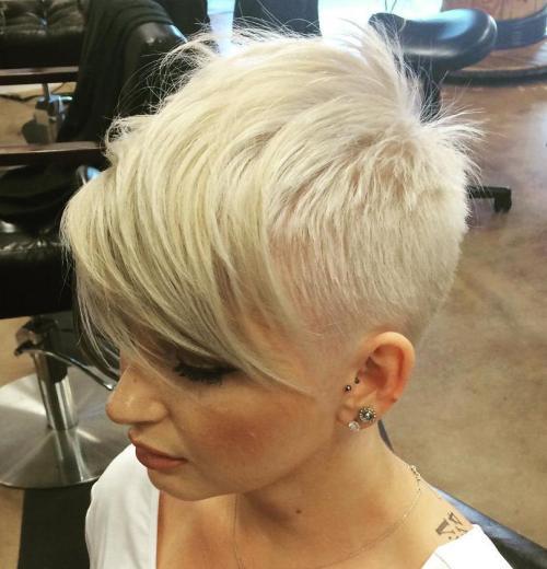 модные женские короткие стрижки на тонкие волосы - пикси