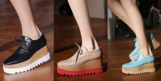модная женская обувь на платформе