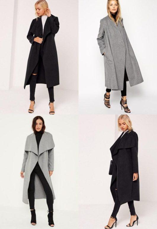 пальто оверсайз и высокий каблук
