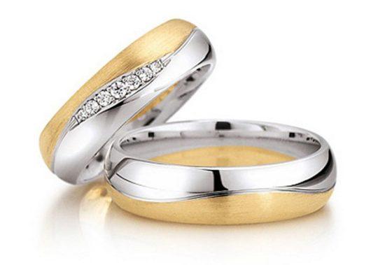 обручальные кольца белое и желтое золото