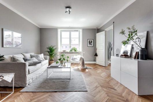 гостиная в скандинавском стиле
