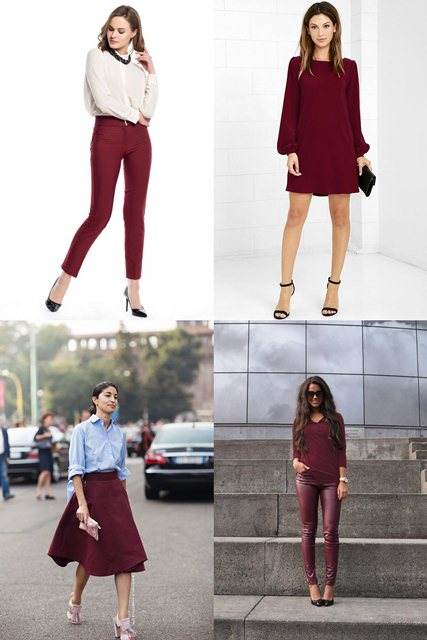 бургунди в одежде 2018