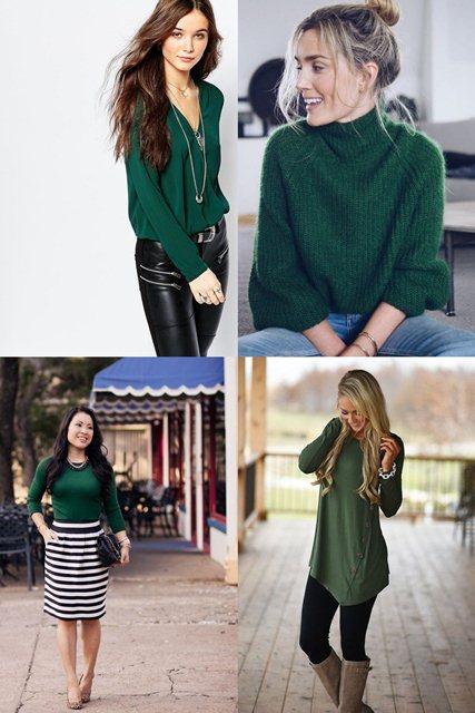 зеленый в одежде 2018