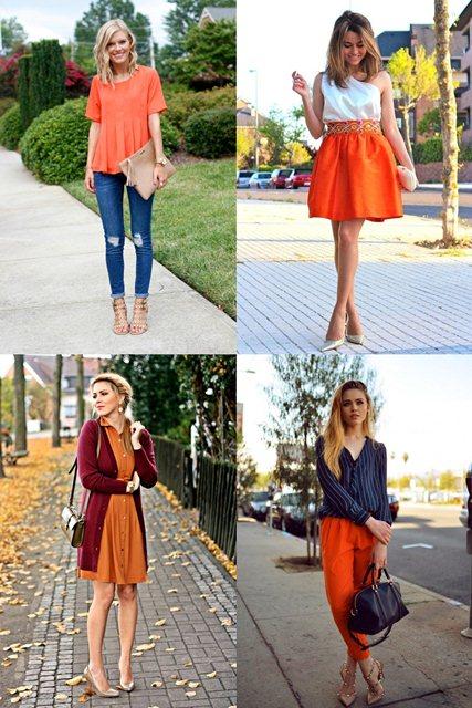 оранжевый в одежде 2018