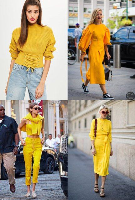 желтый в одежде 2018