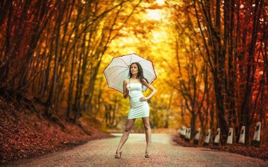 женские зонтик в романтическом стиле