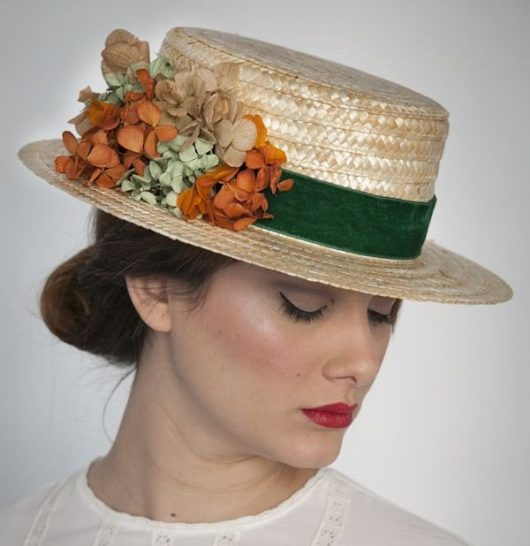 шляпка канотье лето 2018