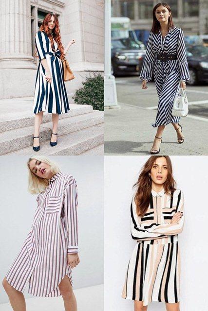 модные платья 2018 полоска