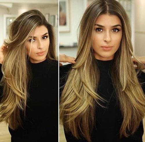 прически длинные волосы 2018