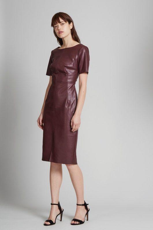 кожаные платья 2018 2019