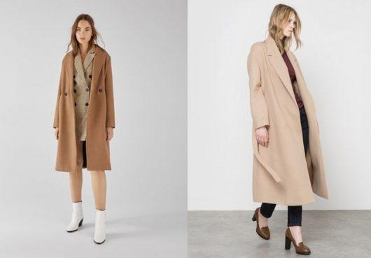 бежевое пальто женское