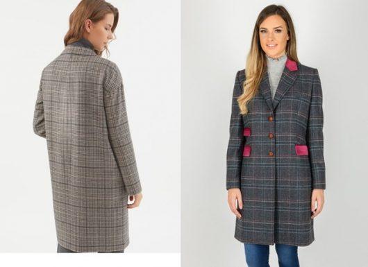 прямые пальто женские