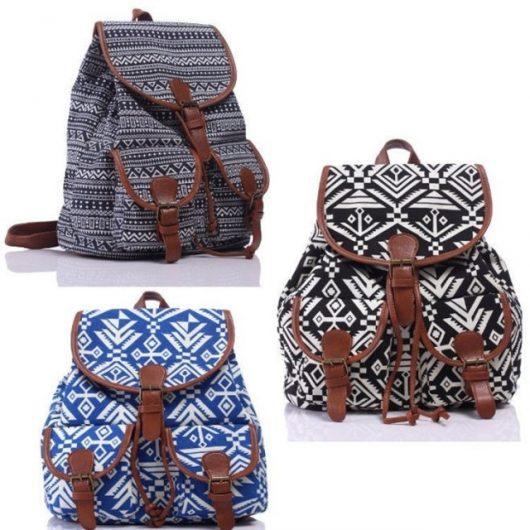 модные женские рюкзаки с принтами